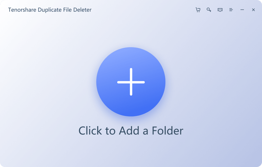 Choose a path or folders to scan for duplicates with Tenorshare Duplicate File Deleter