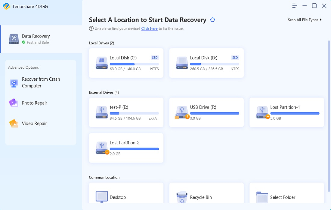 4ddig data recovery guide step 1